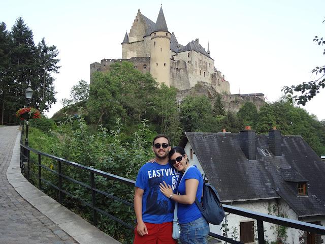 El castillo de Vianden en Luxemburgo