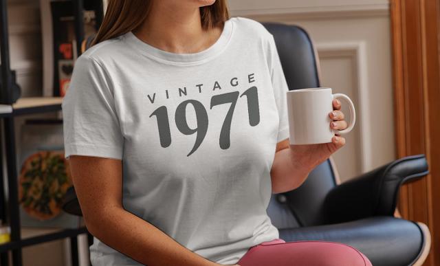 50th birthday decorations shirt Gift Idea Vintage 1971 T-Shirt