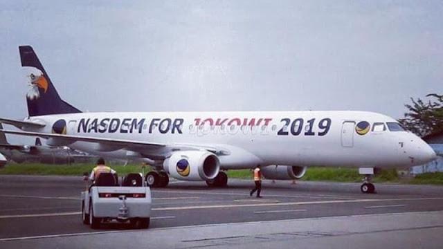 Nasdem Siapkan Pesawat : Nasdem For Jokowi 2019