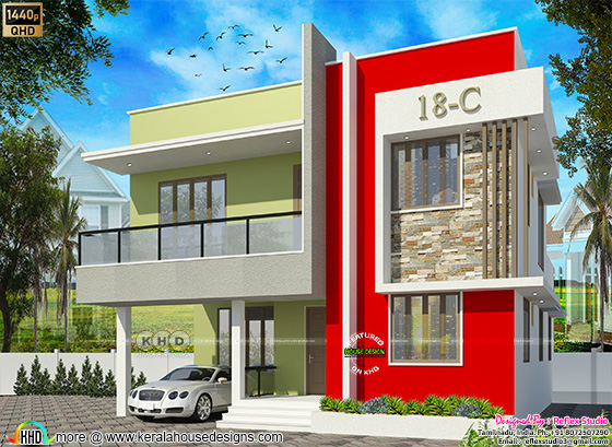 South Indian home plan in 2449 square feet
