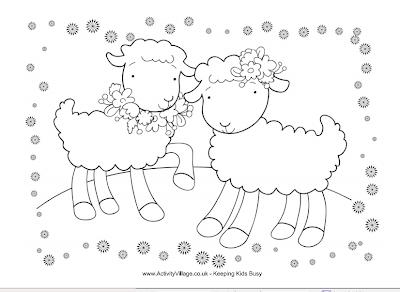 math coloring sheets : Spring Themed Printablesactivity