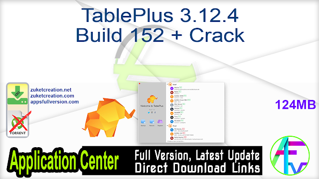 TablePlus 3.12.4 Build 152 + Crack