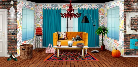 b3ca3cafc2 Salas de estar com sofás e ou poltrona coloridos