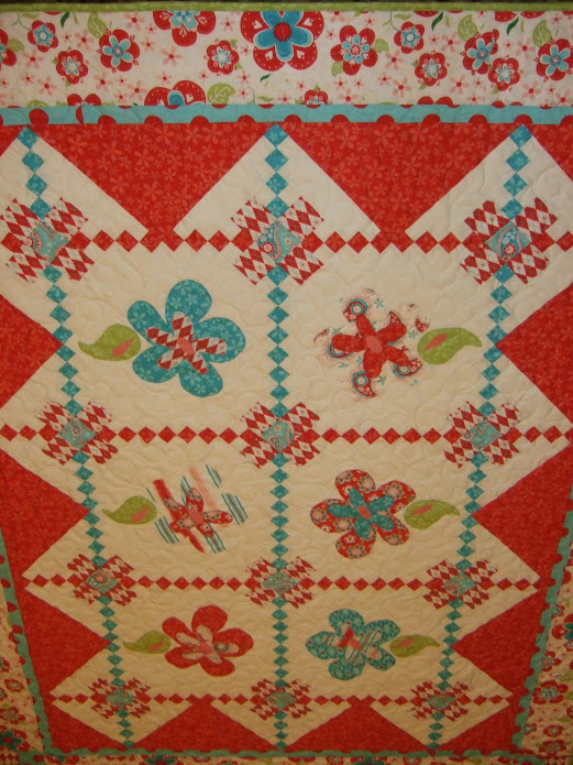 Sugar and Spice Picnic Quilt made by Jina Barney Designz of Jina's World Of Quilting, The Pattern by Riley Blake Designs