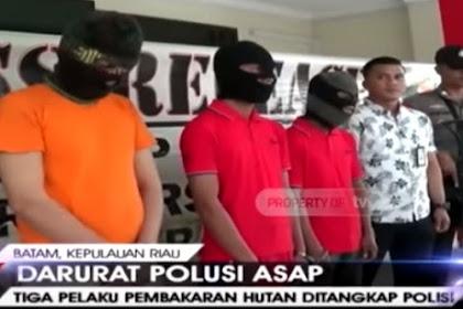 3 Pembakar Hutan di Riau Mengaku Dibayar Pengusaha