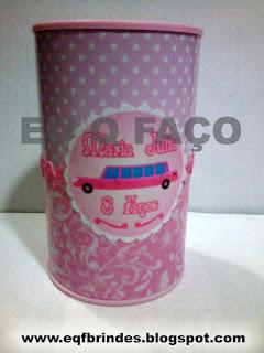 Lanterna Limousine Rosa, brinde limousine rosa, tema brinde limousine rosa, festa brinde limousine rosa, lembrancinha brinde limousine rosa