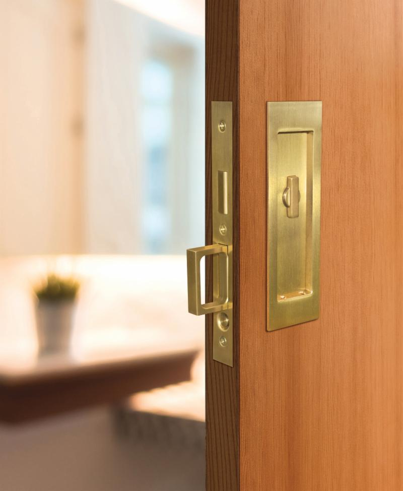 OMNIAu0027s New Solid Brass And Stainless Steel Pocket Door Locks