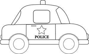 Tranh tô màu xe ô tô cảnh sát 9