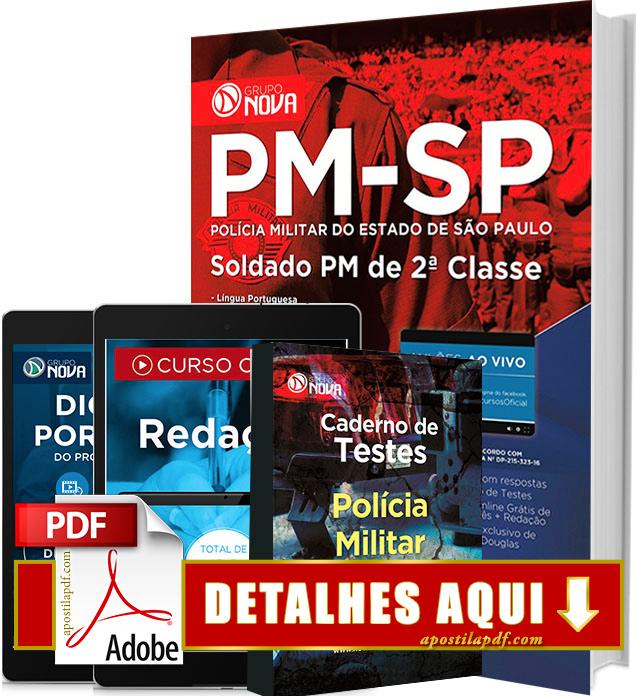 Apostila PM SP 2017 Soldado Impressa