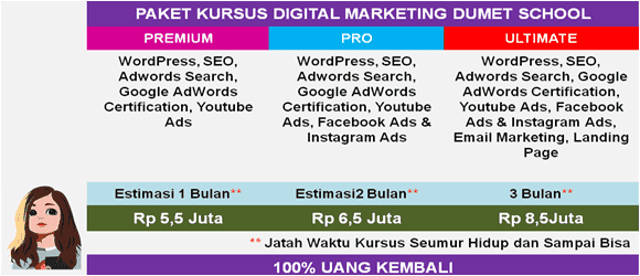 kursus internet marketing dumet school
