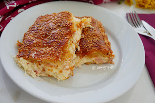 Ham Cheese Pie with Cream