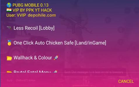 Pubg Mobile 0.13.5 PPK-YT Script Wall,Less Rocoil Hilesi Sezon 8