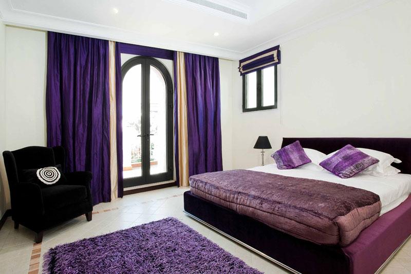 Vrooms: Pretty Purple Bedroom Design