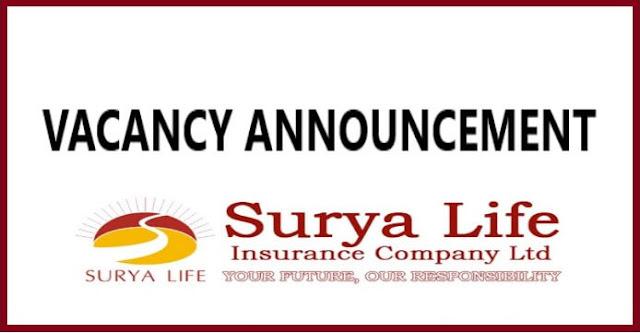 Surya Life Insurance Company Vacancy