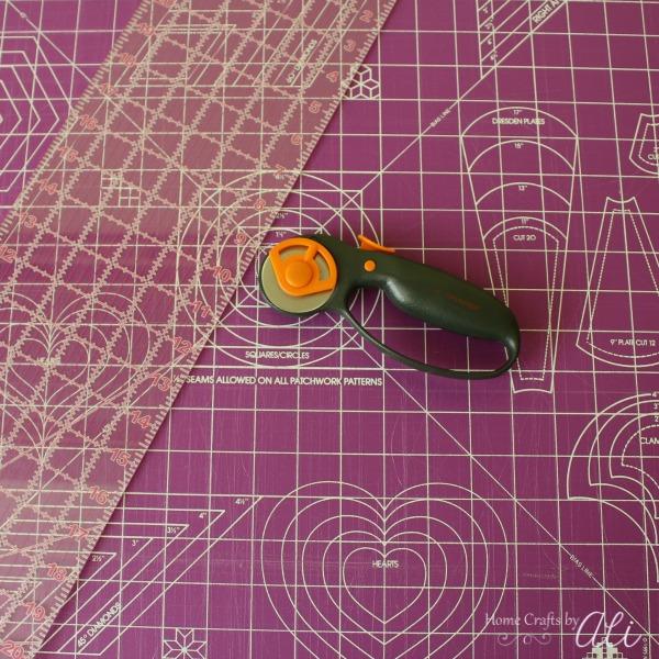 Cutting supplies for sewing mat rotary cutter ruler
