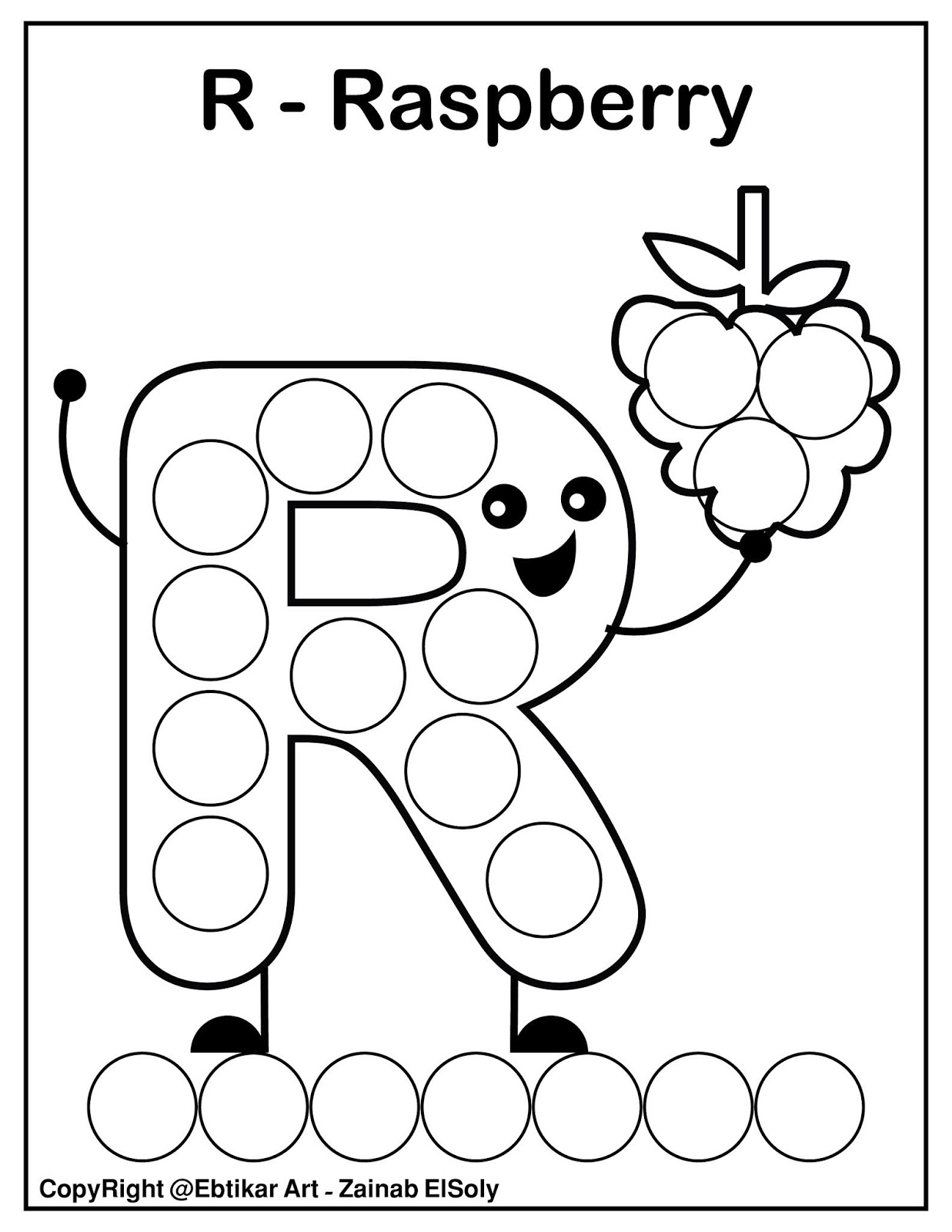- Set Of ABC Dot Marker Coloring Pages