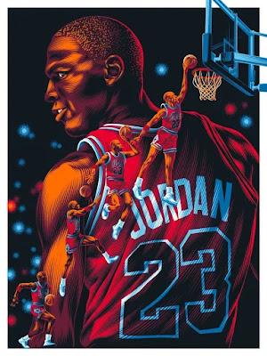 "Michael Jordan ""The GOAT"" Chicago Bulls Screen Print by Aleksey Rico x All Star Press Chicago"