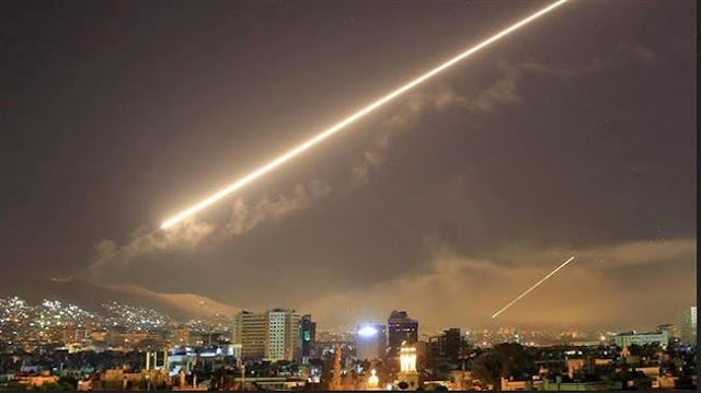 Syria air defenses shot down Israeli missiles over Damascus