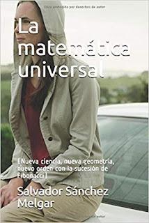 """Portada del libro """"La matemática universal"""" en la que se ve una mujer con capucha sentada en un coche"""