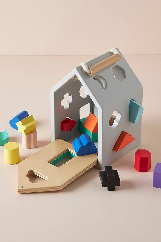 House Shape Sorter Toy Set | Anthropologie