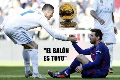 Cristiano devuelve el Balón de Oro y pide que se lo den a Messi