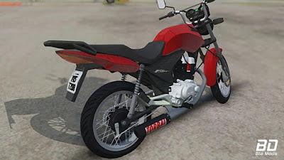 Honda 150 Fan + Torbal para GTA San Andreas tras