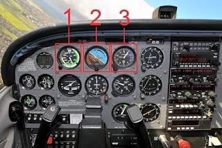 كابينة القيادة (cockpit) لطائرة Cessna 172