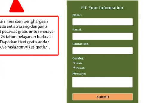 Penipuan Tiket AirAsia