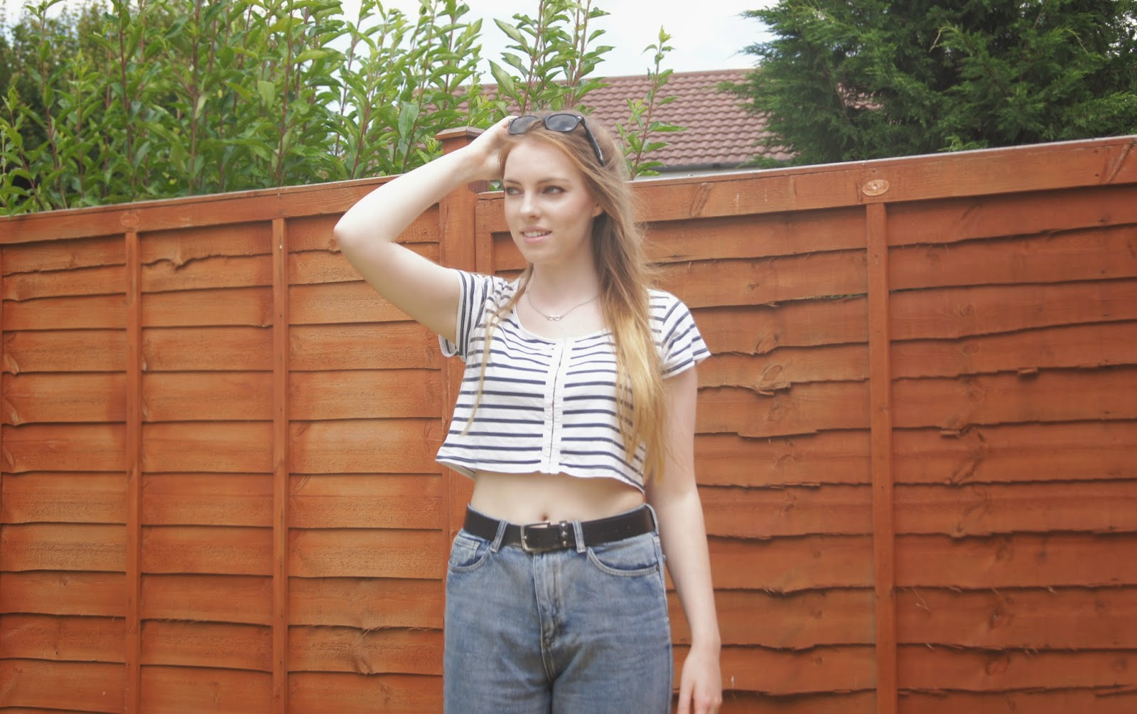 striped crop top topshop