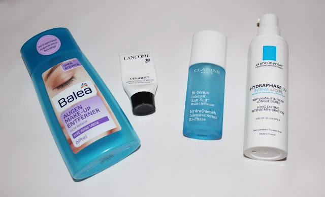 Balea Makeup Entferner - Lancome Creme - Clarins Serum - La Roche Posay Creme