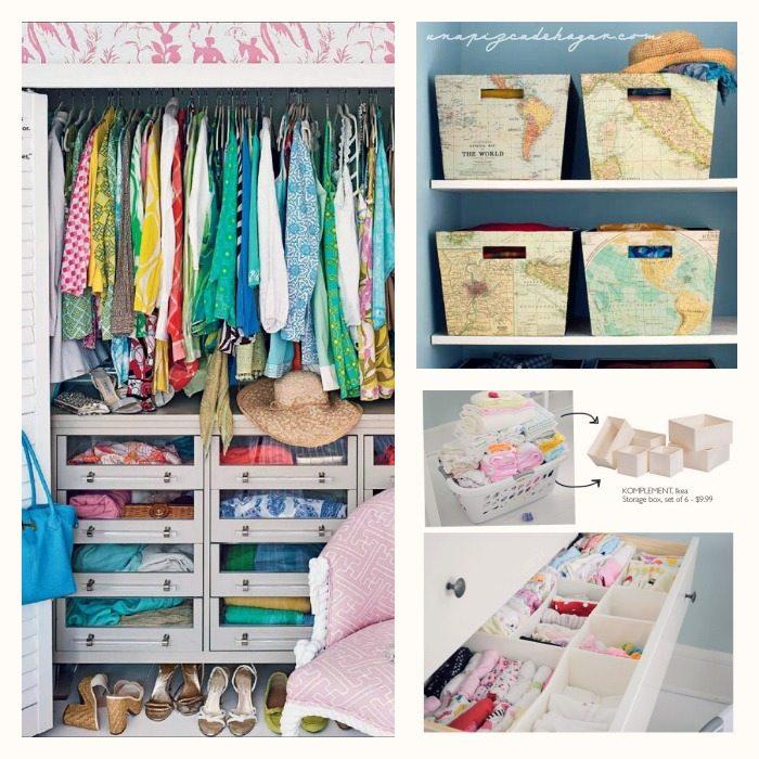 Una pizca de hogar claves para lograr orden en tu armario for Cajas para guardar ropa armario