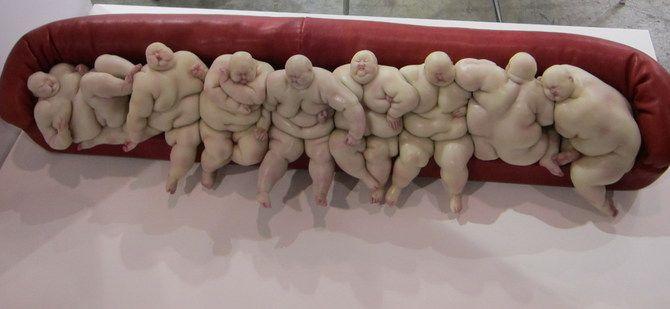 Escultura oriental de gordo