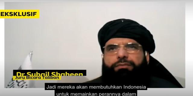 Jubir Taliban: Kami Membutuhkan Indonesia untuk Memainkan Perannya dalam Perdamaian Afghanistan