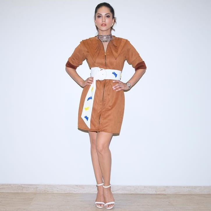 Sunny Leone Latest Hot Photoshoot in Brown Outfit