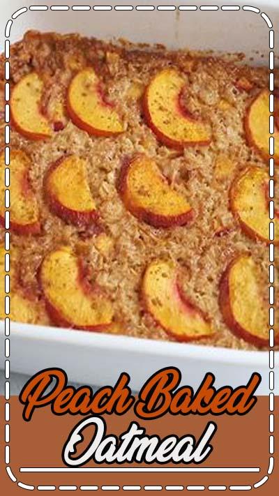 A healthy baked oatmeal recipe using one of my favorite summer fruits: peaches! Make ahead for meal prep or a weekend brunch. #peachoatmeal #bakedoatmeal #eatingbirdfood #peachbakedoatmeal