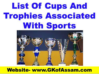 List Of Cups And Trophies Associated With Sports