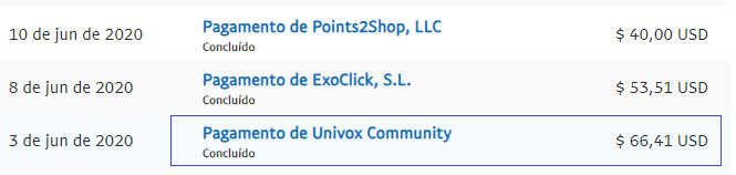 univox community pagamento
