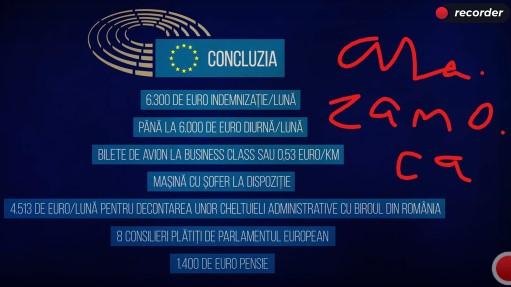 Sumar al beneficiilor monetare MEP dupa Mircea Diaconu, MEP in curs de retragere