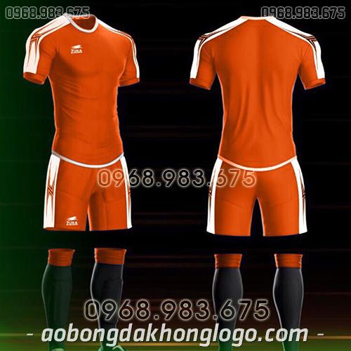 Áo bóng đá ko logo Zuka Basix màu cam