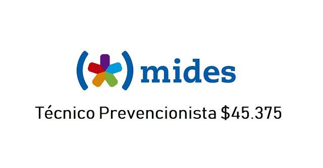 Técnico Prevencionista $45.375 - Ministerio de Desarrollo Social - Dirección General de Secretaría