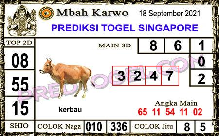 Prediksi Mbah Karwo Togel Singapura Sabtu 18 September 2021