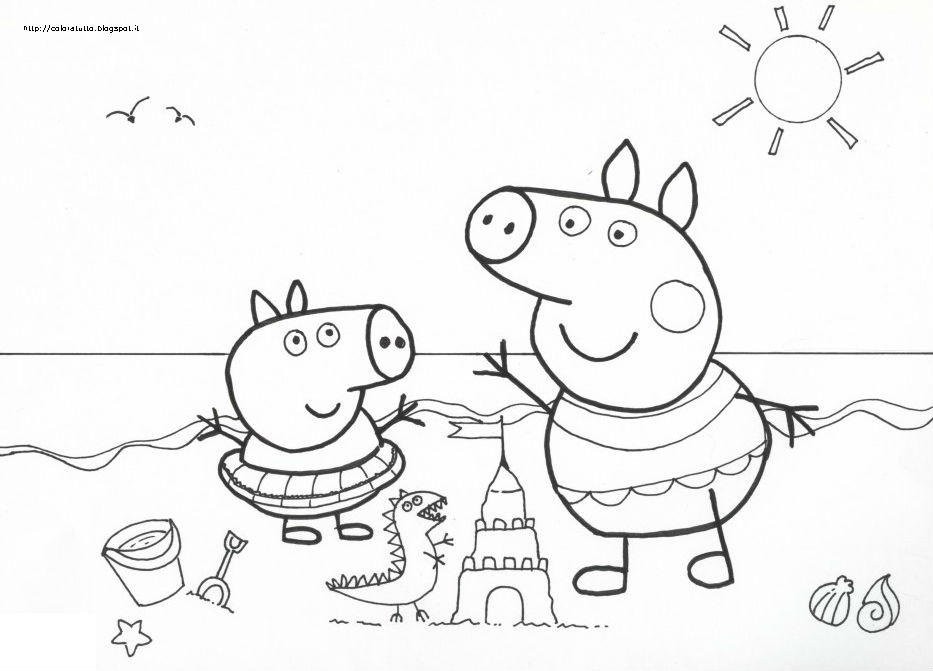 Coloratutto Website Disegni Di Peppa Pig Da Colorare Per Bambini