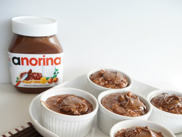 Chocolate Rice Pudding with Nutella