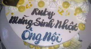 RuBy chúc mừng sinh nhật ông Nội