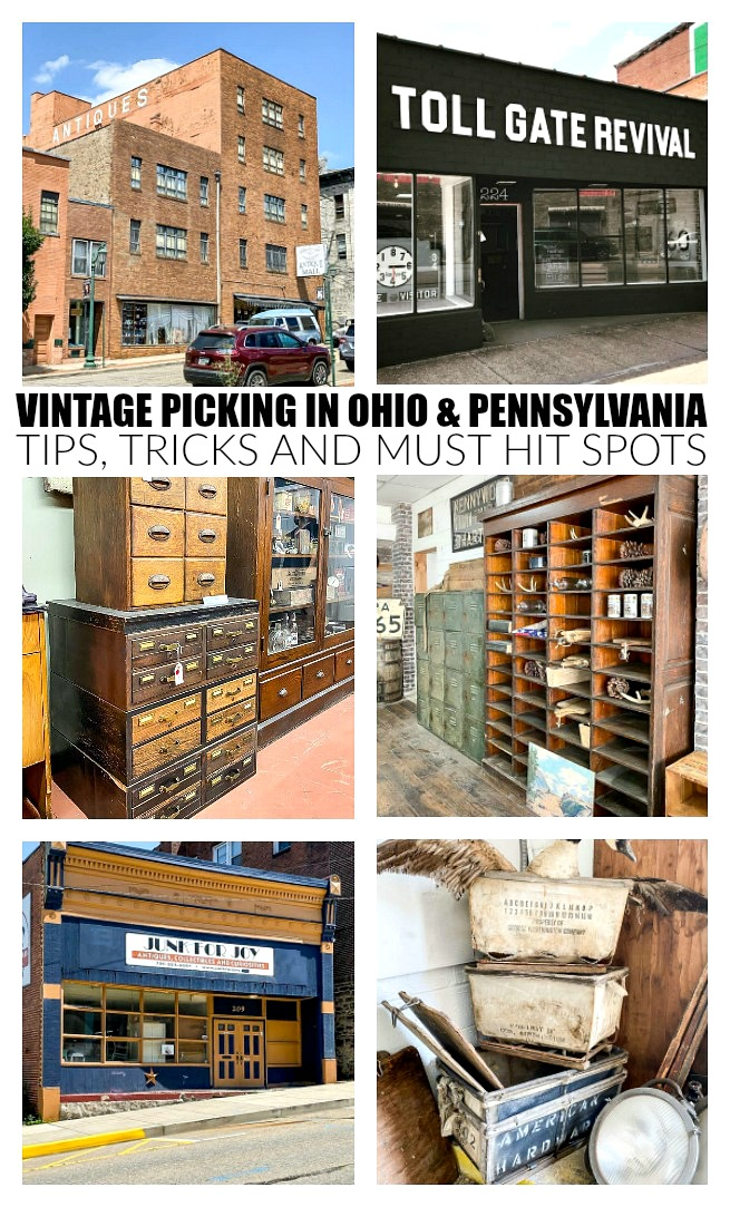 vintage picking in Ohio and Pennsylvania