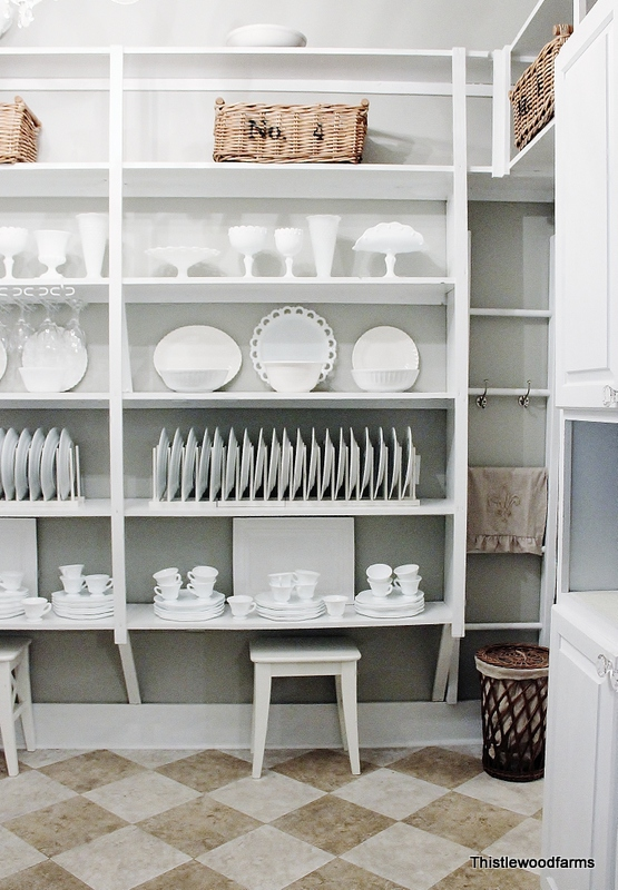 These floor to ceiling pantry shelving is a stunning use of space
