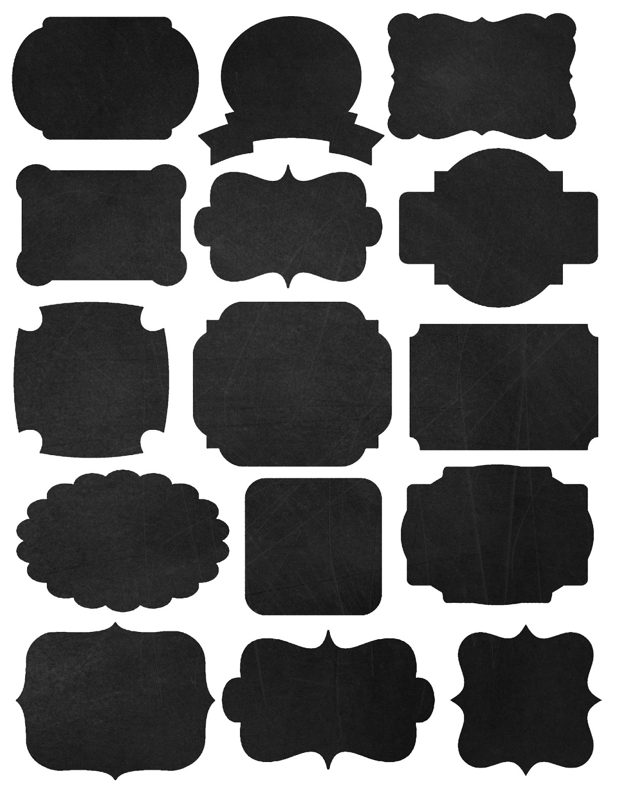 doodlecraft freebies printables labels and chalkboard fonts With black labels for printing