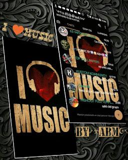 I Love Music Theme For YOWhatsApp & Fouad WhatsApp By ABM