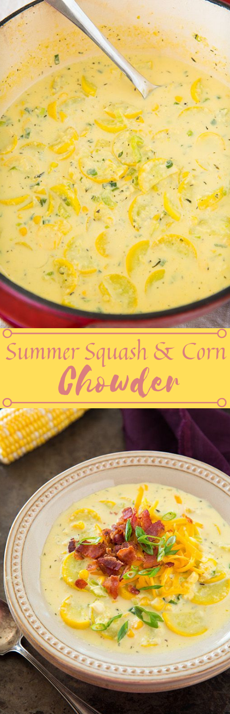 Summer Squash and Corn Chowder #vegan #vegetables #dinner #salad #summer
