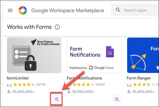 """انقر فوق """"تثبيت"""" لإضافة formLimiter إلى نماذج Google الإضافية الخاصة بك."""